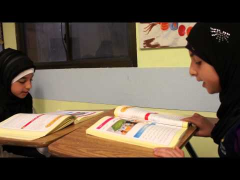 Al Hadi School Arabic reading & translation by Maha G. & Mariam born & raised in USA (5th Grade)