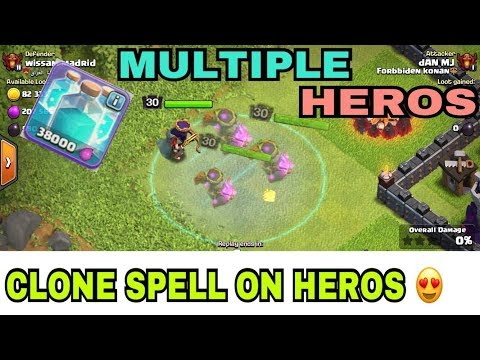 CLONE SPELL VS HEROS | MULTIPLE HEROS??? (QUESTION ANSWERED)