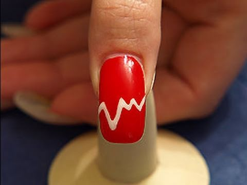 Nail Art Motive In Red With Colour Gel Youtube