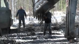 Зимник Усть-Кут - Мирный. Ранняя весна 2014 года.
