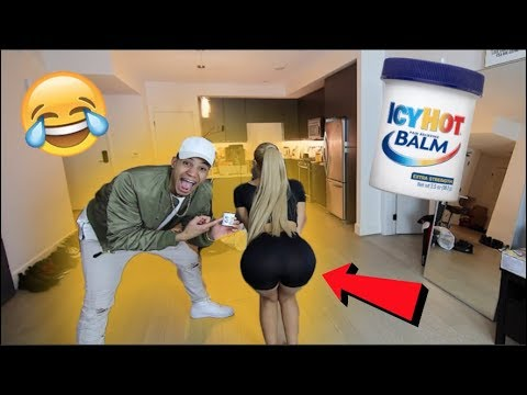 Burning PU$$Y Prank On Girlfriend! Icy Hot!