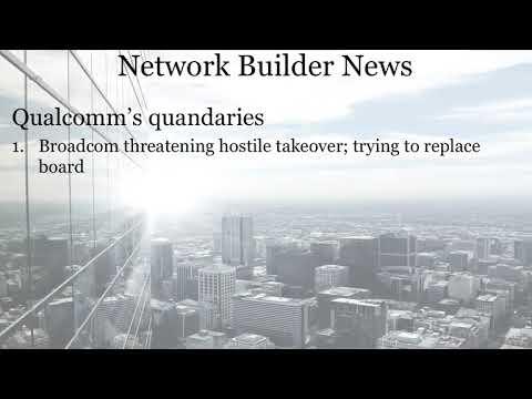 Network Builder News 12/6/17