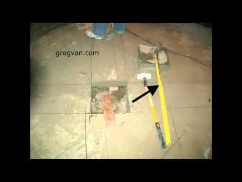 Easy Concrete Demolition Using Blocks and Sledge Hammer