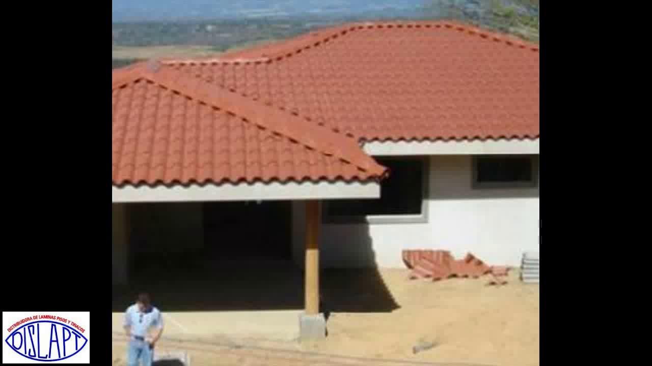 L mina pl stica tipo teja caracter sticas y usos youtube for Tipos de techos de tejas
