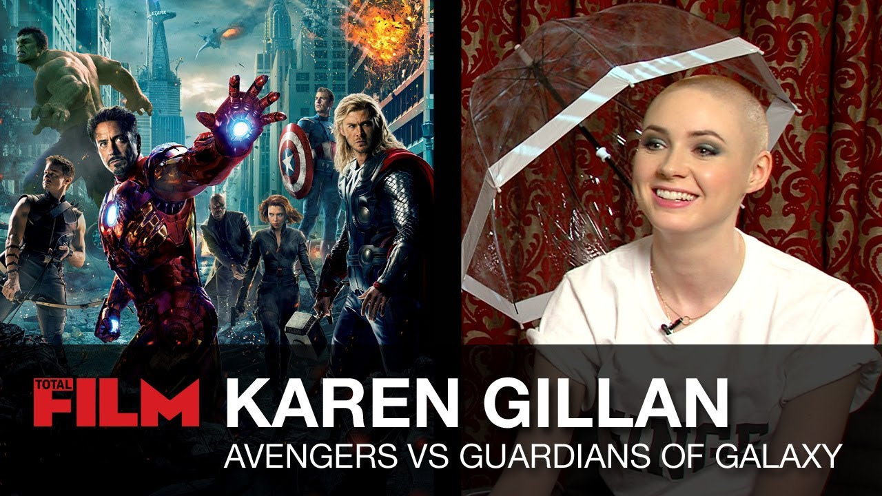 Karen Gillan talks The Avengers vs Guardians of the Galaxy crossover - YouTube