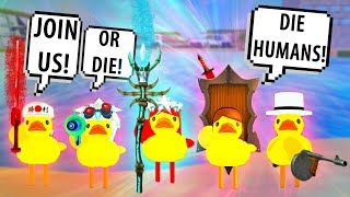 ROBLOX DUCKS GET REVENGE ON HUMANS! DUCK ARMY ATTACK! Roblox Best   Roblox Funny Moments
