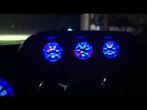 Mustang setup with Autometer gauges