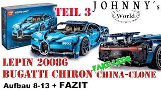 TEIL 3 Lepin 20086 Bugatti Chiron - Clone vom Lego 42083 - Steps 8-13 + FAZIT Review auf Deutsch