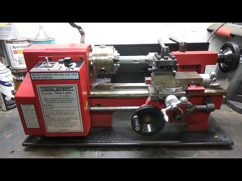 harbor freight mini lathe review - YouTube