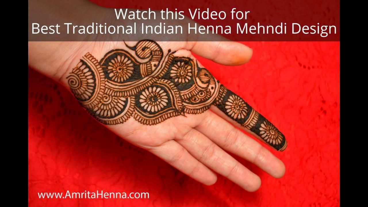 Unique Traditional Indian Henna Mehndi Design Rajasthani Marwari