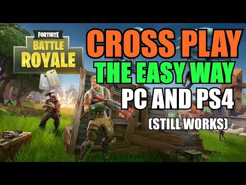How to CROSS PLAY FORTNITE BR - The EASY WAY (Working February 2018)