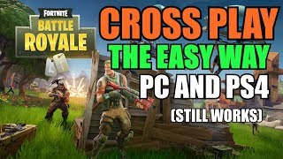 How to CROSS PLAY FORTNITE BR - The EASY WAY (Working March 2018) Xbox One and PS4