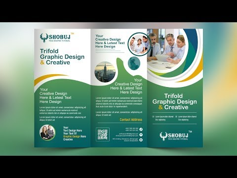 Tri Fold Brochure Design - In Photoshop Cc Tutorial 2019