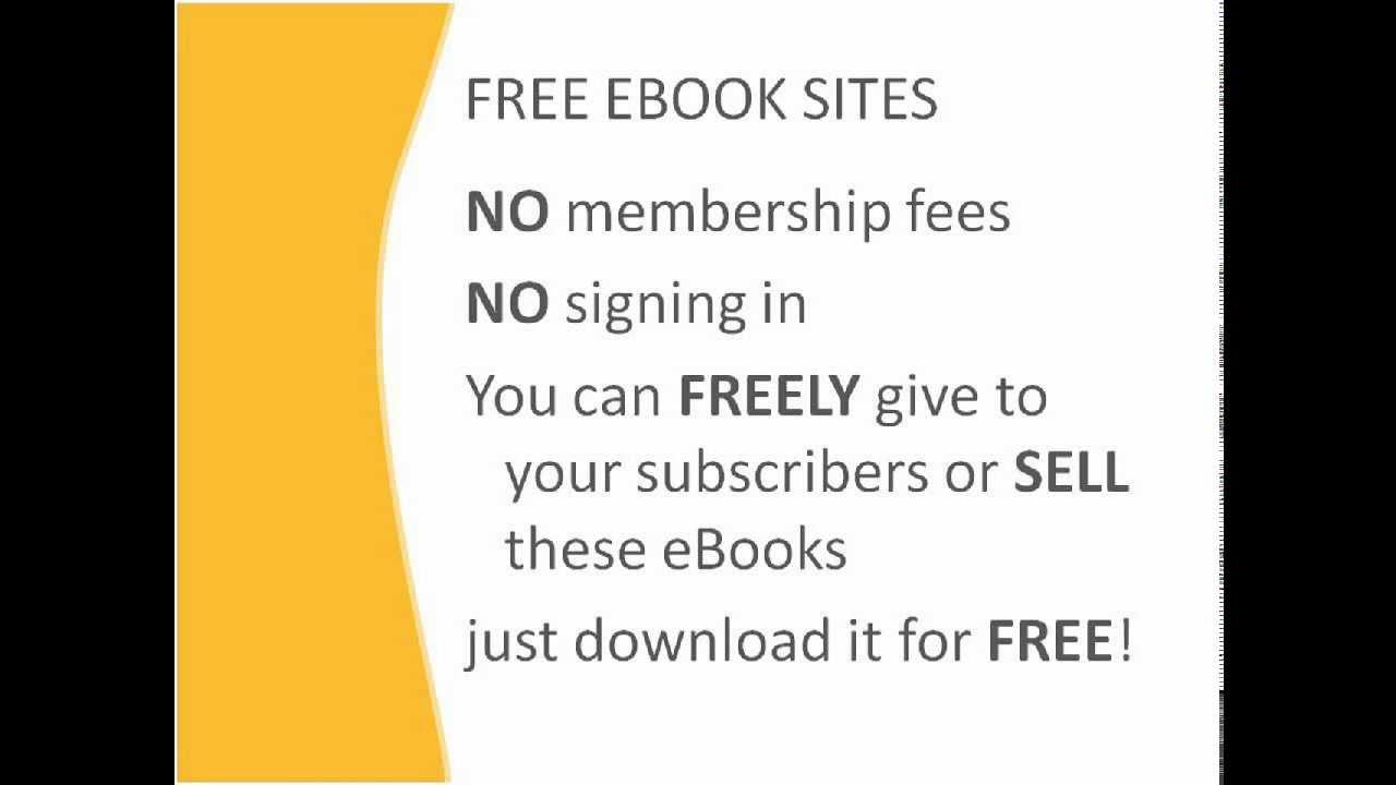 Free Ebook Sites  Never Pay For An Ebook Again