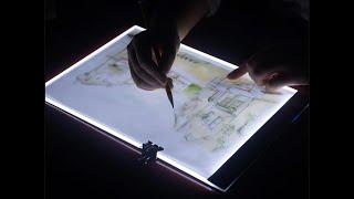 Обзор светового LED планшета А4 для рисования и копирования