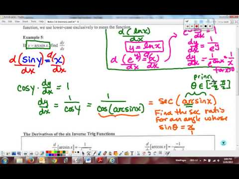 Inverse Trig Review and Derivatives