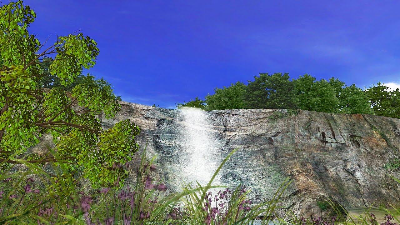 3D Waterfall Screensaver For Windows HD