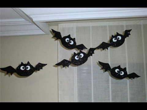 Diy halloween decorations bats - Murcielagos Decorativos Para Halloween Decorations For