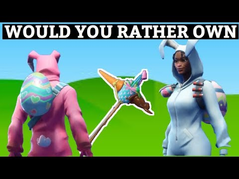 FORTNITE   WOULD YOU RATHER OWN BUNNY BRAWLER Or CARROT STICK