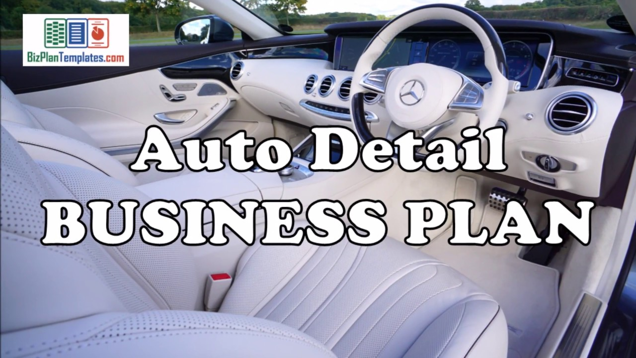 car detailing business plan