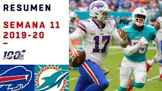 Miami intentó heroico regreso pero no pudo ante la defensa de Bills   Highlights Bills vs Dolphins