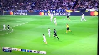 Résumé 1ère mi-temps Réal Madrid - PSG Ligue des Champions