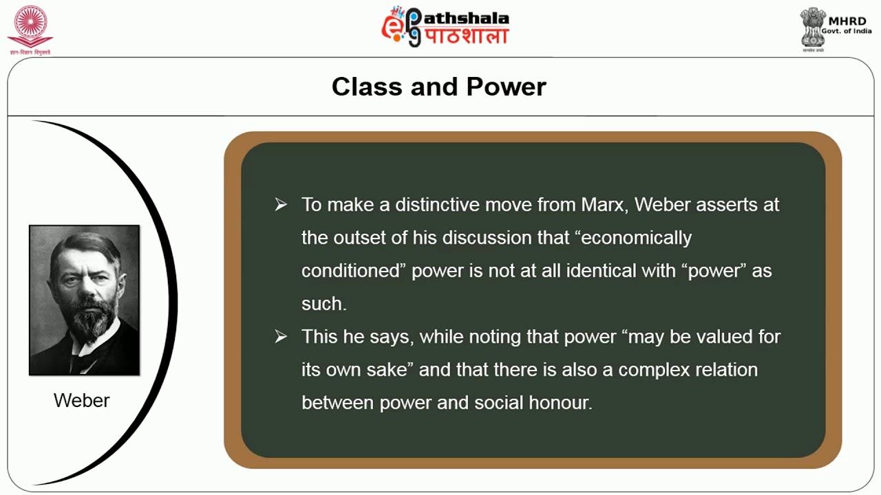 weber and social class