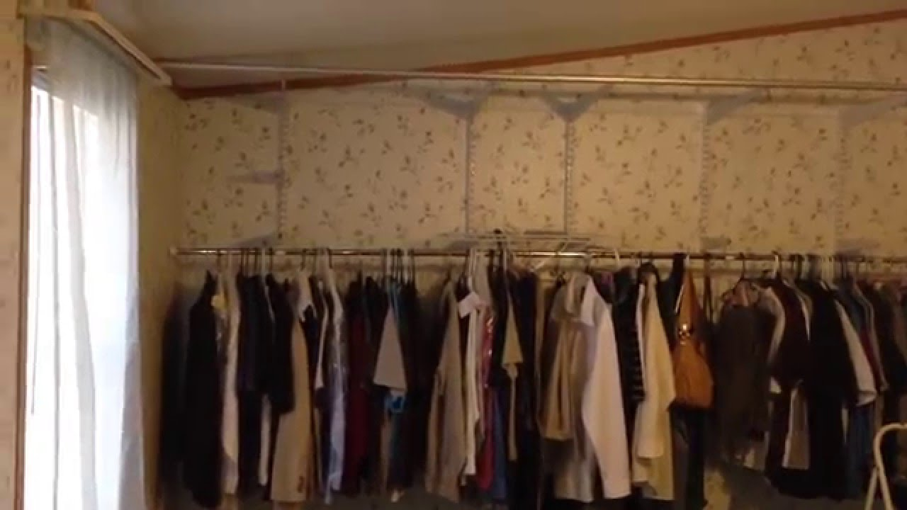 IKEAu0027S KVARTAL Sliding Curtain Track System Ideas Using Rubbermaid Closet  System   YouTube