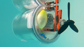 Building A Lego-powered Submarine 3.0 - Balloon And Compressor