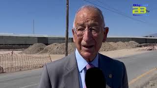 Las obras de la carretera del Cementerio de Roquetas marchan a buen ritmo