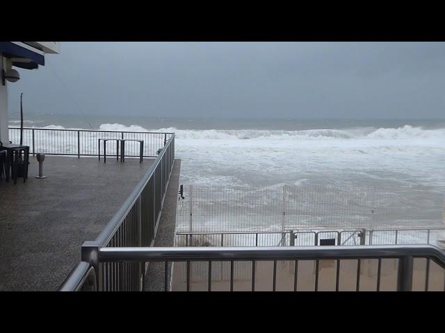 El mar entrant al Club Natació Badalona - Gener 2020