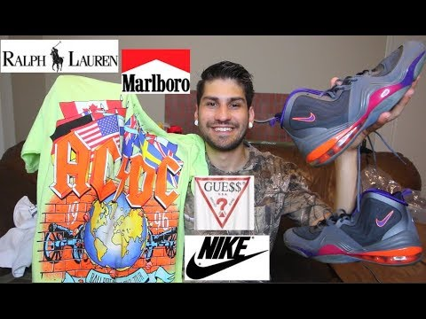 THRIFT FINDS: NIKE AIR PENNY, MARLBORO, GUESS JEANS, POLO RALPH LAUREN & MORE!!!