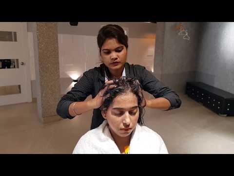 Asmr Head massage by creative female barber