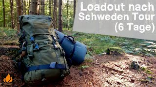 Loadout of the Savotta LJK after 6 Days in Sweden with a bedroll