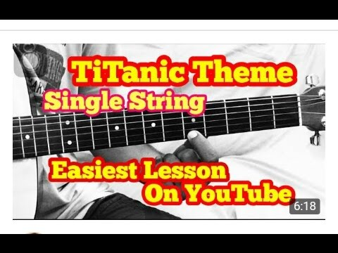 My Heart Will Go On Titanic Movie Song Guitar Chords Youtube