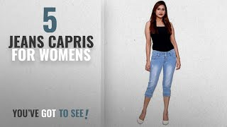 Top 10 Jeans Capris For Womens [2018]: FNocks Women Stretchable Denim Modern Look Casual Capri