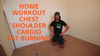 Shoulder, Chest, and Cardio Home Workout Circuit | 30 Mins | No Equipment(Warmup: Two rounds - 5 Inchworms, 10 Air Squats Workout: For time: 1-2-3-4-5-6-7-8-9-10-9-8-7-6-5-4-3-2-1 of Pushups, Burpees, and Side Planks. Cooldown: ..., 2017-03-10T23:30:16.000Z)