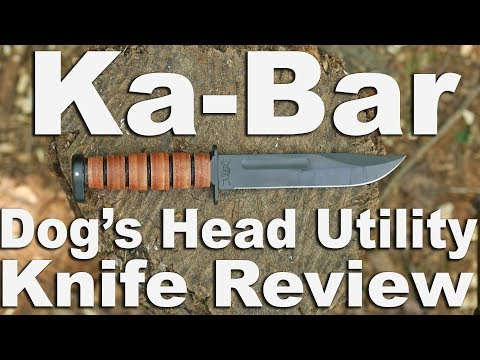 KaBar Dogs Head Utility Knife Review with Cutting Cheese and Batoning.