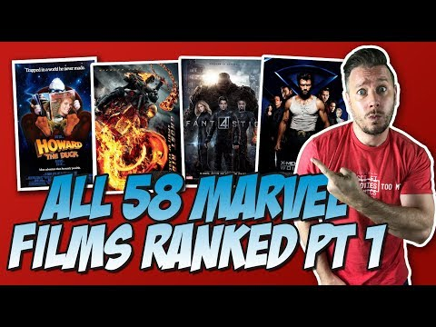 All 58 Marvel Movies Ranked Part 1 (Bottom 18: 58 to 41)