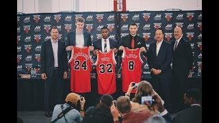 Zach LaVine, Kris Dunn & Lauri Markkanen - Introductory Press Conference - Chicago Bulls | 2017