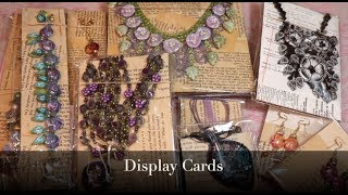 Creating Jewelry Display Cards for Earrings, Necklaces and Bracelets