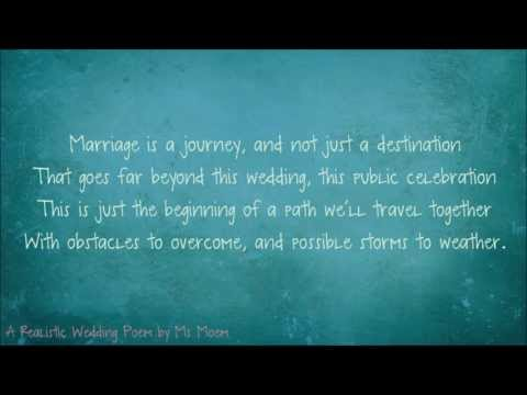A Realistic Wedding Poem | Fun Wedding Reading
