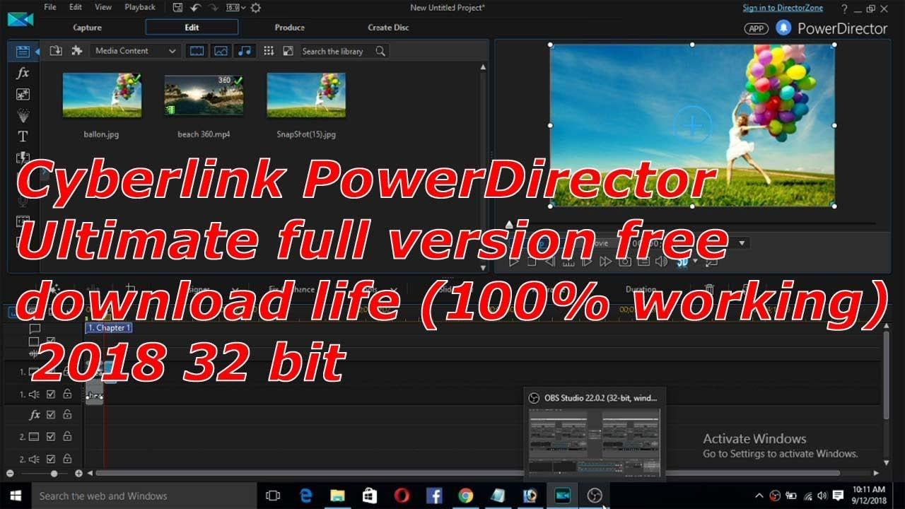 cyberlink powerdirector full version free download