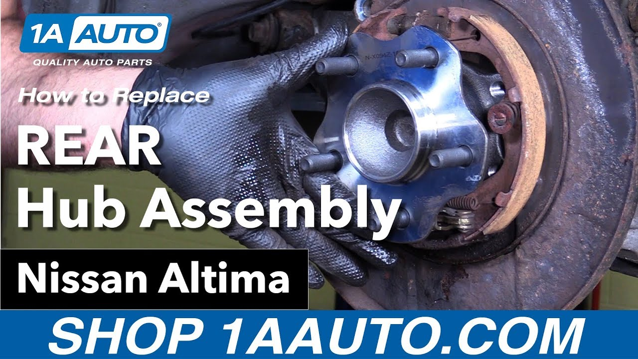 How To Replace Rear Hub Assembly 02 06 Nissan Altima Youtube