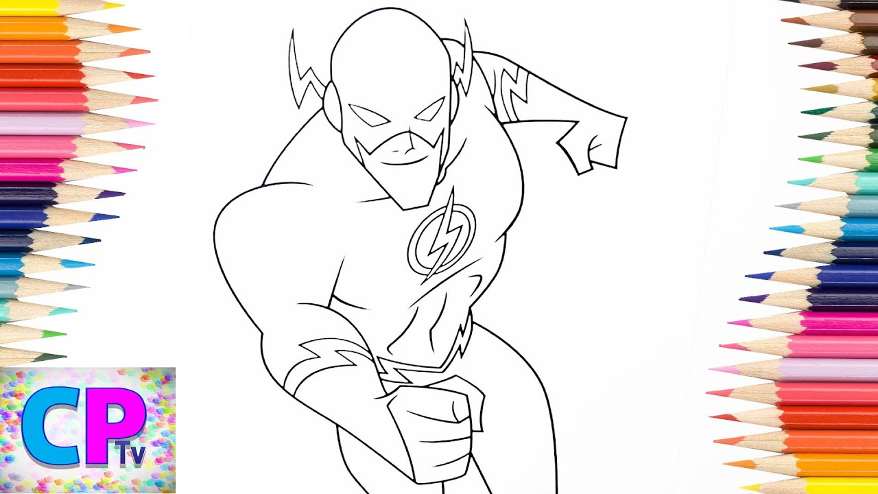 Flash Coloring Pages For Kids Part 4 Tv