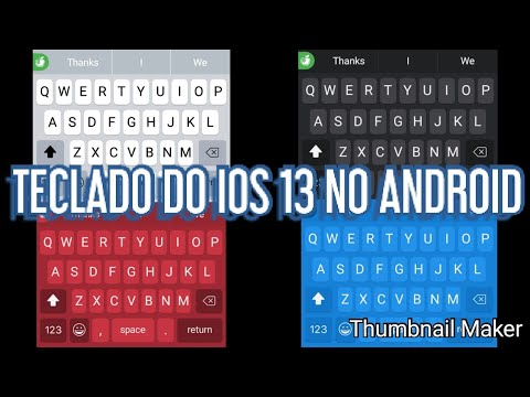 COMO TER O TECLADO DO IOS 13 BETA 1 NO ANDROID