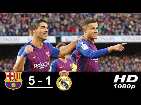 Барселона Реал Мадрид 5:1 голи і лутшиє моменти матча