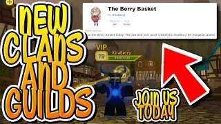 NEW CLANS AND GUILDS IN DUNGEON QUEST + LEGENDARY GIVEAWAY !!! (Roblox)