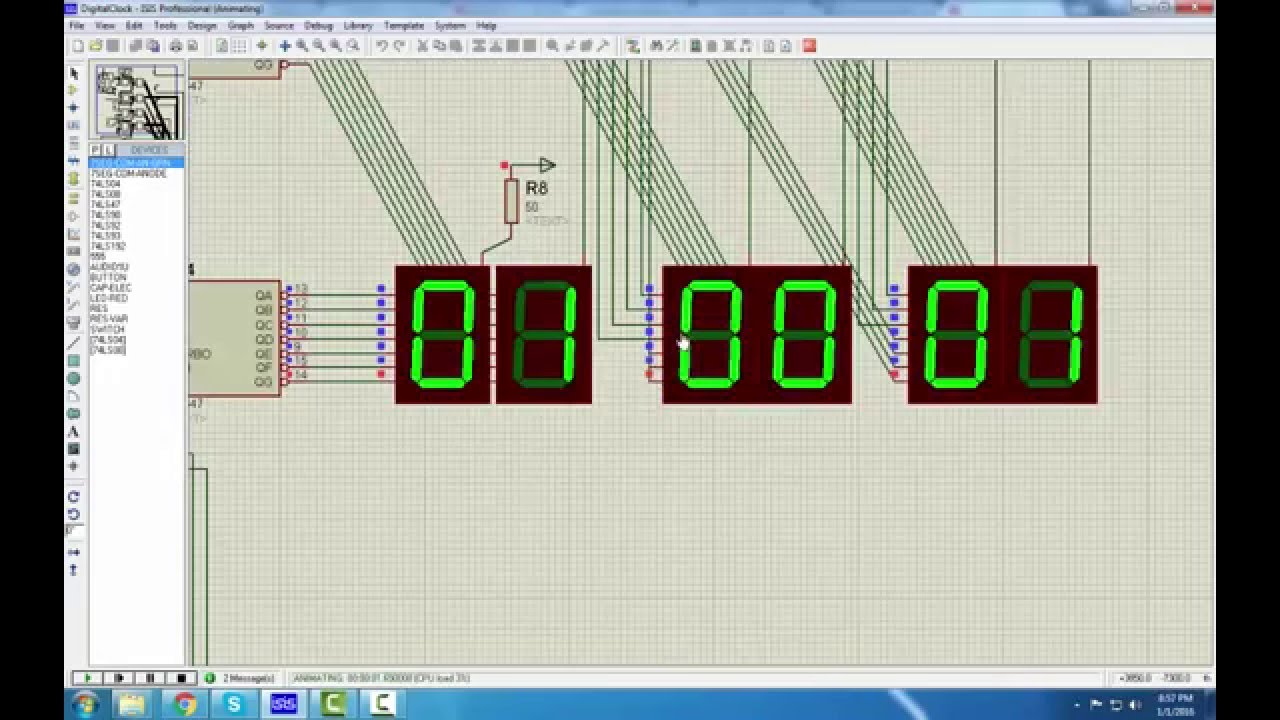 12 hour digital clock part 2 [ 1280 x 720 Pixel ]