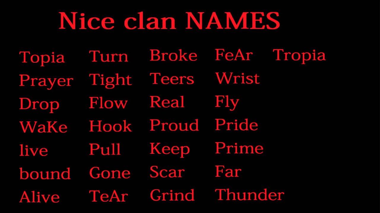 Cool Names: Cool Clan Names Generator Fortnite